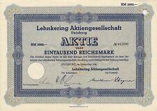 Lehnkering AG Duisburg HISTOR. share 1941 shipping freight logistics warehouse