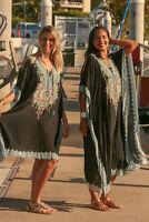 NEW Very Embellished Cold Shoulder Kaftan Black Long Fits O/Size 14-22 Viscose