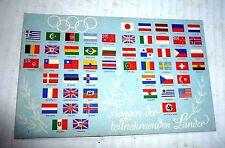 VINTAGE POSTCARD GERMANY BERLIN OLYMPICS 1936 FLAGS SOCCER FOOTBALL STAMP 1936