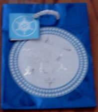 Cute Snowflake Pattern Mini Gift Bag - Mettalic Blue Background - BRAND NEW