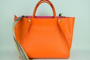 100% Authentic MCM Orange Large 2way Hand & Crossbody Bag With Dust Bag