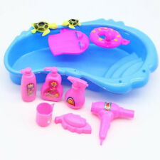 11 Pcs Bath Supplies for Barbie Doll Bathing Pool Hair Drier Soap Set Play Toy