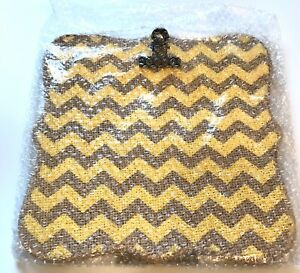Chevron Burlap Ribbon Photo Frame Great American Opportunities Picture Frame NEW