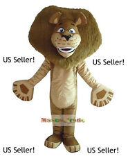 New~Alex the Lion Madagascar Mascot Costume TV Kids Party Animal Fun-US Seller!