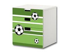 """""""Fußball"""" Aufkleber passend für die Kommode IKEA STUVA (3 Fächer) - S3K10"""