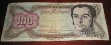 Banconote America/Venezuela Banco Central 100 Cien Bolivares De Venezuela