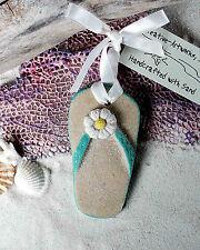FLIPFLOP Aqua Made with Sand Tropical Beach Ornament