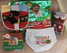 BABY'S FIRST CHRISTMAS~BIB & BOOTIES, PICTURE ORNAMENT, DIAPER BOTTOMS, GIFT BAG
