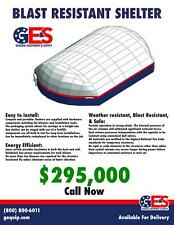 Blast Resistant, Weatherproof, Construction & Utility Storage Shelter 62' X 95'