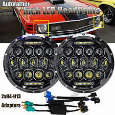 """Pair 7"""" Round LED Sealed H/L Beam Headlight H4 H13 H6024 For Ford F150 1975-1977"""