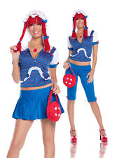 Elegant Moments Rag Doll Women's Halloween Costume Medium #9510 Royal Blue