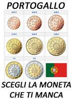 1 CENT - 2 EURO PORTOGALLO PORTUGAL 2002 - 2009 SPL CIRC.