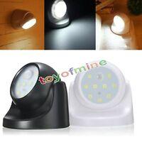 Luz de sensor inalámbrico activado por movimiento blanco de 9 LED
