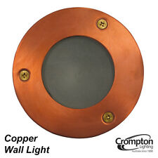 Round Copper Recessed Exterior Wall Light 12V 35W MR16 Low Voltage Outdoor