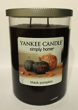 YANKEE CANDLE BLACK PUMPKIN HALLOWEEN FALL HARVEST AUTUMN BLACK SOY WAX CANDLE