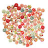 AU_ HB- 2 Holes Wooden 15mm Flower Dots Buttons/ for Sewing Scrapbooking DIY Cra