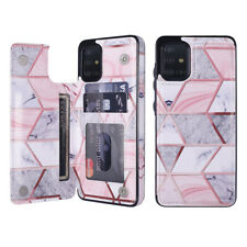 For Samsung S10 S20 A21S A51  Marble Leather Flip Wallet Card Holder Case Cover