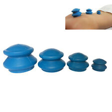 Set of 4 CHINESE SILICONE VACUUM SUCTION CUPPING BODY MASSAGE RUBBER CUP
