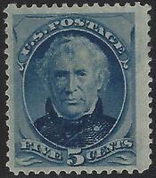 US Stamps - Sc# 185 - Mint OG Hinged - 2014 Weiss Cert.    $450          (A-882)