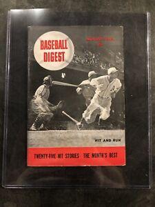 August 1942 Baseball Digest Inaugural Issue Rare