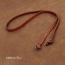 CAM2612 Leather shoulder Neck Strap Leica Nikon Fuji camera Brown handmade