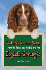 English Springer Spaniel Welcome Sign in 3d Great Christmas Stocking Filler