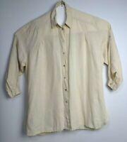 TS Taking Shape Women's Plus Size Linen Long Sleeve Casual Shirt Size 16
