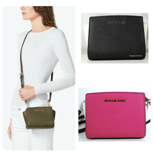 Michael Kors MINI Selma Saffiano Leather Messenger Crossbody Bag