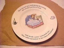"""WEDGWOOD PETER RABBIT PLATE 7""""  WAS NOT VERY WELL CAMOMILE TEA AT BED TIME"""
