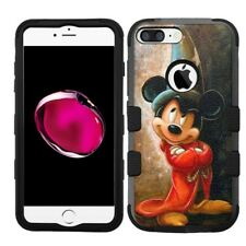 for iPhone 8 Plus Rugged Rubber+Hard Hybrid Case Mickey Mouse Wizard #