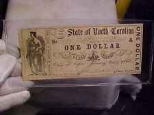 Authenic State of North Carolina [Confederate] One Dolllar , dated Oct 10, 1861