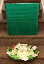 Fitz and Floyd French Market Sectioned Server Vegetable Dip with Box