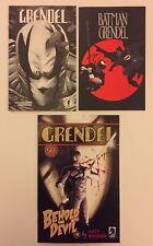 Grendel & Batman Grendel Ashcans & Behold The Devil #0 (DC/DH) VF (3 Comics)