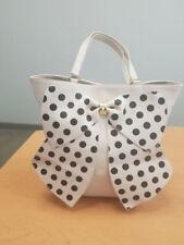 Betsey Johnson Ivory Polka Dot Bow Satchel Handbag