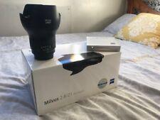 Zeiss Milvus 21MM F2.8 Lens - Nikon ZF.2 + Zeiss T* UV Filter