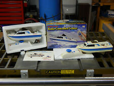 Vintage Radio Shack Radio Controlled Cruiser Boat W/Box + Extra Toy Parts Lot