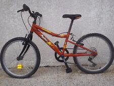 beau vélo VTC jeune ado rouge 8 14 ans TBE bicyclette 24 pouces