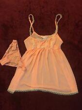 Victoria's Secret Cute Sexy Bright Orange See Through Sleepwear Lingerie Top XS