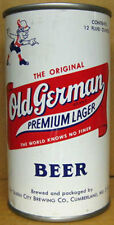 OLD GERMAN BEER ss Bank Top CAN with ALPINE MAN, Cumberland, MARYLAND 1974 gd.1+