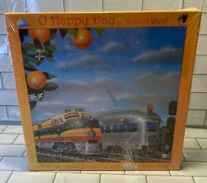 SunsOut Jigsaw Puzzle Happy Days Robert West USA Train Locomotive 500 pieces NEW