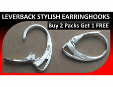 10 X 925 Stamped Sterling Silver Coated Leverback Hooks Earrings Lever Back DIY
