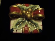 Fitz and Floyd Plaid Christmas box 2063 128 hand crafted
