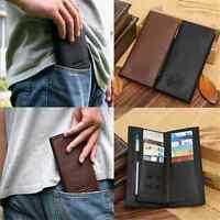 Charm Elegant Men Long Casual Leather Wallet Pockets Clutch Cente Bifold Purse