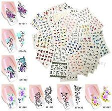 50 Sheets/set Nagel Art Transfert Wasser Aufkleber Manicure Sticker Decor