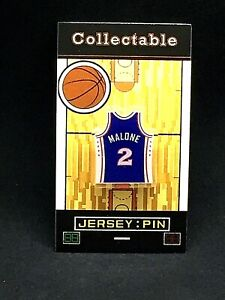 Philadelphia 76ers Moses Malone jersey lapel pin-Classic throwback Collectable