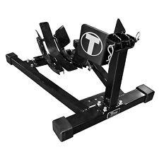 Titan Bulldog Moto w/ Spring Loaded Cradle, Motorcycle Wheel Chock - Black