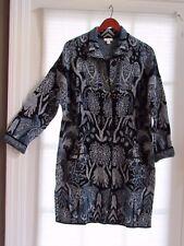 J JILL Prussian Blue Black Long Cardigan Sweater Coat Size M NWT $160
