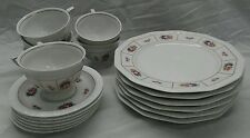 Nice 18 pcs Rosenthal classic rose collection salad  plates cups saucers