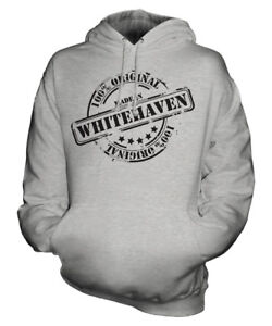 MADE IN WHITEHAVEN UNISEX HOODIE MENS WOMENS LADIES GIFT CHRISTMAS BIRTHDAY 50TH