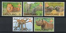 Swaziland 2016 MNH Big 5 Animals 5v Set Lions Elephants Rhinos Leopards Stamps